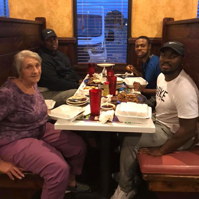3 Men Invite Widow Eating Alone At Restaurant To Join Them