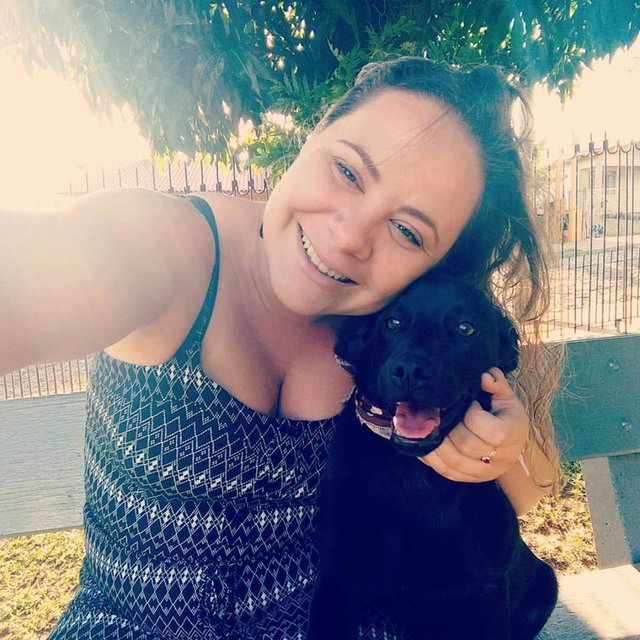 rescue dog shares her blanket